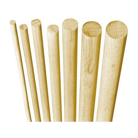 Poste madera haya 1 metro ronda lisa 10 mm (por 100)