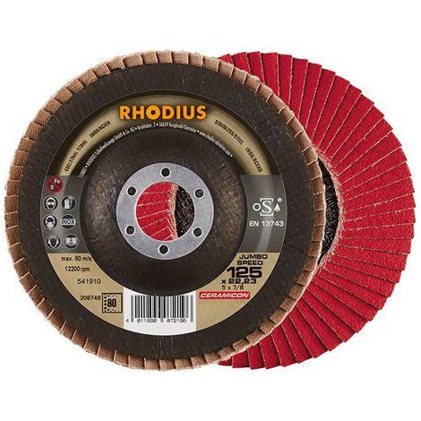 Disco de láminas JUMBO SP 125mm K 80 Rhodius(por 10)