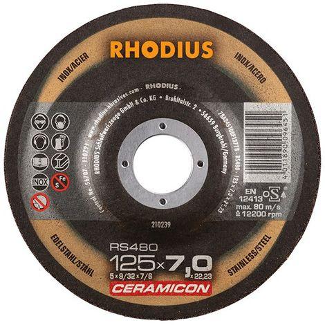 Disco de corte RS480 125 x 7,0mm Inox Rhodius(por 25)