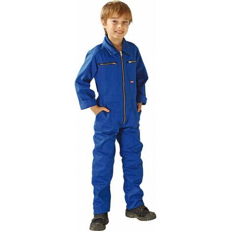 Traje de trabajo niño 100%BW,290g/m2,Talla 122/128,