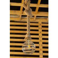 Portalampada in corda 1xE27 design industriale 1.5 m