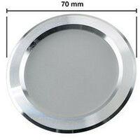 PACK x3 - Faretto Slim da incasso LED sottile 19mm sottopensile bagno-cucina 3W | Argento - Bianco Freddo 6500K
