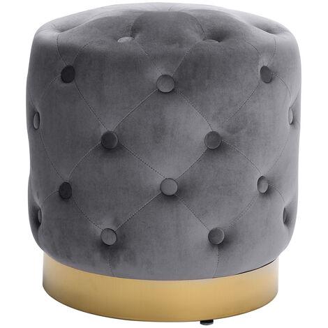 Soft Stool Vanity Chair Velvet Footstool Gold Metal Base Dressing Table Stool