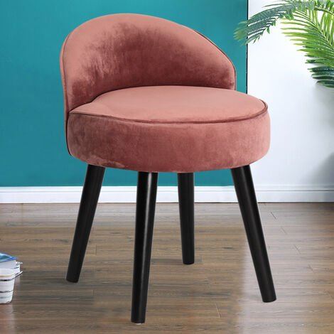 Modern Dressing Table Stool Bedroom Makeup Vanity Desk Chair Piano Stool Velvet