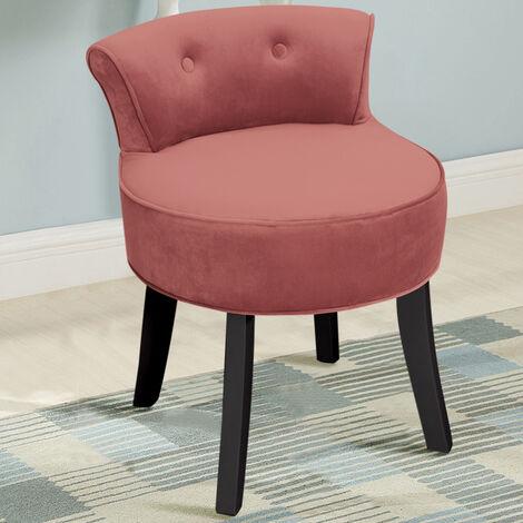 Dressing Table Stool Vanity Stool Chair Velvet Bedroom Chair Wood Legs