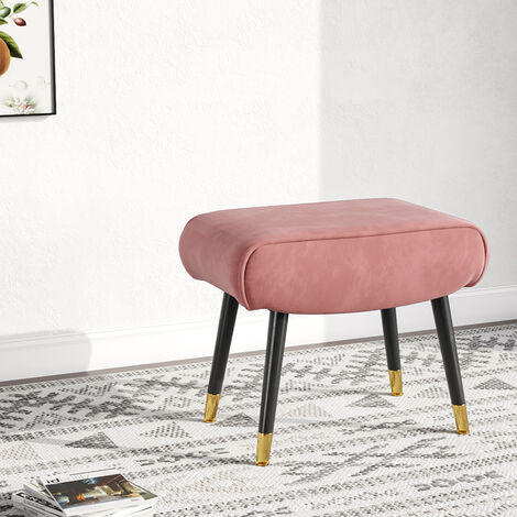 Velvet upholstered Vanity stool - bedroom stool, dressing table stool - pink
