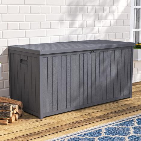 Garden Storage Box 430 Litre Plastic Outdoor Patio Deck Chest