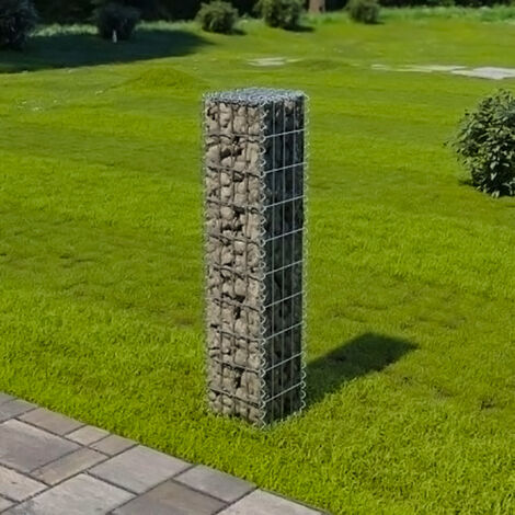 Garden Wall Retaining Gabion Basket Stone Wire Cage Fence, 100x30x30CM