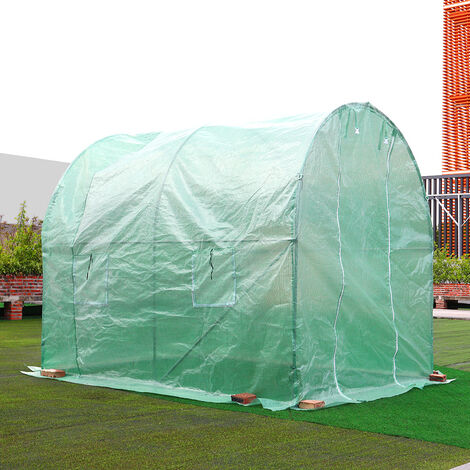 Walk-in Tunnel Greenhouse Garden Planting Shed, 2.5x2x2M
