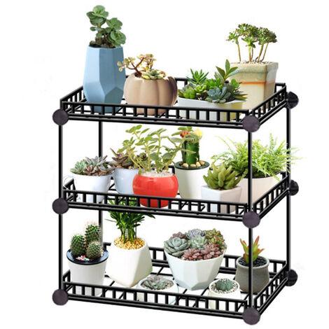 Large Garden Plant Pot Stand Flower Display Shelf, 3 Tier