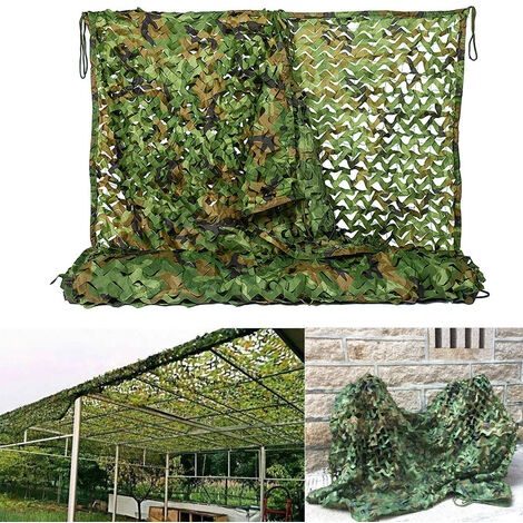 Anti-Aerial Camouflage Net Fabric Shooting Hunting Hide Woodland, 5x1.5M