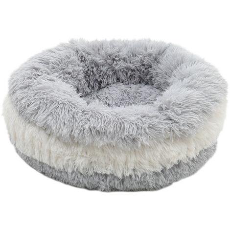 Pet Dog Cat Donut Bed Calming Nesting Bed Warm Soft Plush Puppy Sleeping Basket - Diameter 100cm
