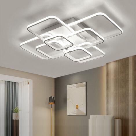 Square LED Ceiling Light Chandelier Lamp Cool White Lights, 8 Head