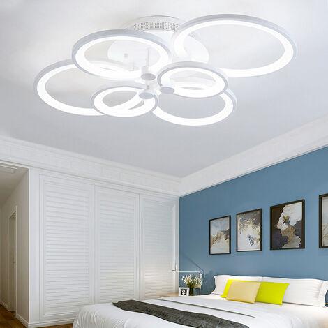 LED Light Ceiling Lights Cool White Chandelier Lamp, 6 Head