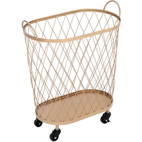 Kitchen Cart Trolley Storage Shelf Basket Holder Organizer Cabinet Kitchen Rack Gold