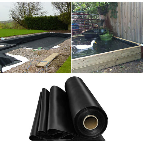 Fish Pond Liner Garden Landscaping Pool Membrane Anti-Seepage Waterproof Liner,4.5x3m
