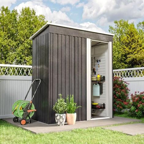5ft x3ft Black Metal Garden Shed Garden Storage
