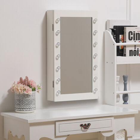 Floor Standing Mirror Jewellery Cabinet with Storage Drawers Organiser,34x60x10cm