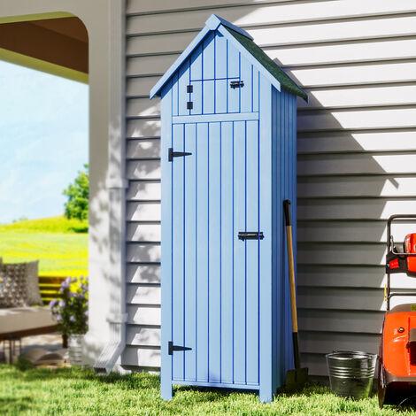 Garden Storage Box Shed Cabinet Tools Shelves Shelter Locker, Blue