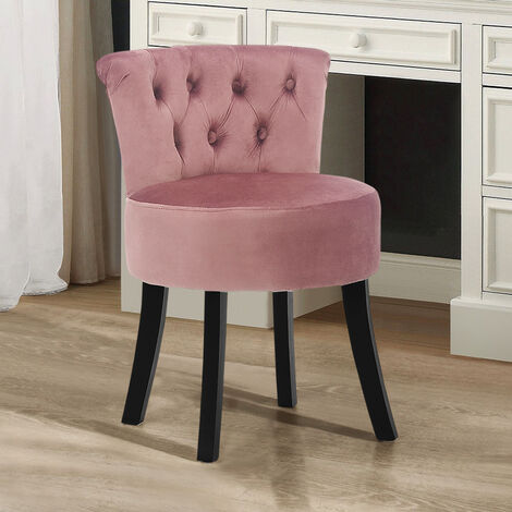 Velvet Stools Makeup Dressing Table Stool Vanity Chair Dining Chairs Pink