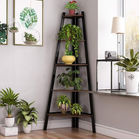 5 Tier Triangle Foldable Plant Stand Rack Ladder Shelf