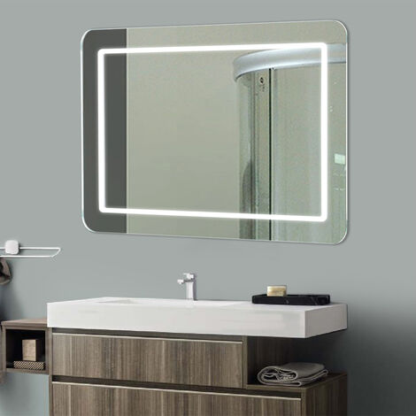 Illuminated LED Bathroom Mirror with Demister Pad Sensor 500 x 700mm
