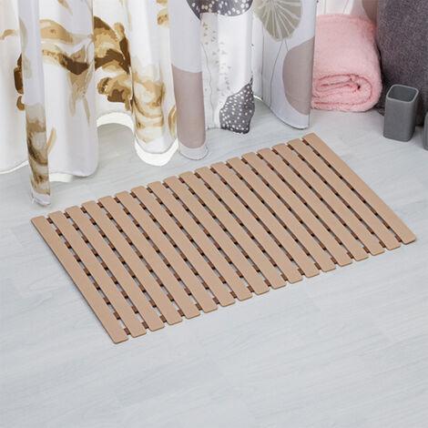 Brown Bath Shower Mat Non Slip PVC Bathroom Rubber Mats Anti Slip 40 x 63 cm