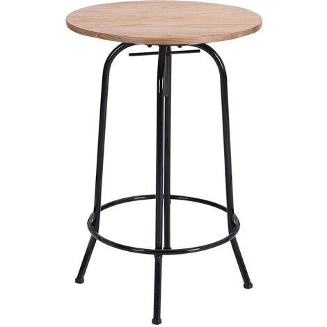Industrial Bistro Kitchen Breakfast Bar Table Height Adjustable
