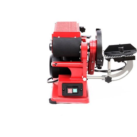 Bench Belt and Disc Sander 6in with Cast Iron Base 375W Electric Mitre Sanding