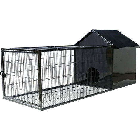 Rabbit Hutch Large Pet Habitat House Animal Cage w/ Run Area