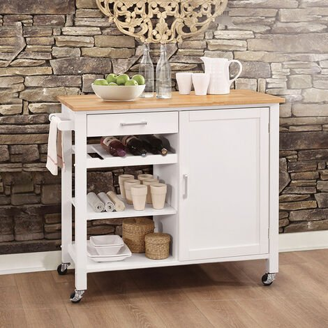 Kitchen Storage Sideboard Trolley Cupboard Shelf Cabinet Rack