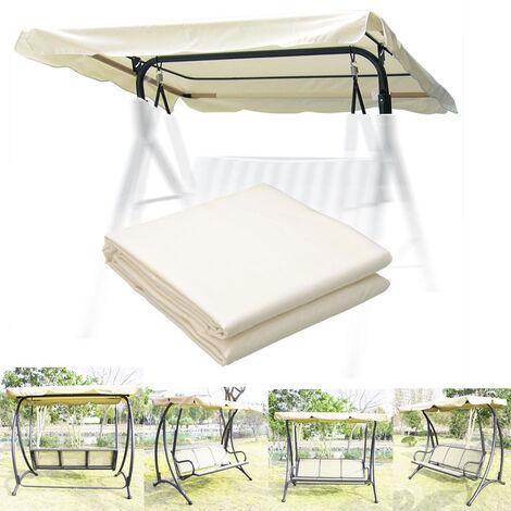 Outdoor Garden Patio Swing Chair Cover Beige, 200x100CM