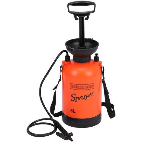 5L Garden Pressure Sprayer Portable Fence Spray Bottle Weed Killer Car Clean
