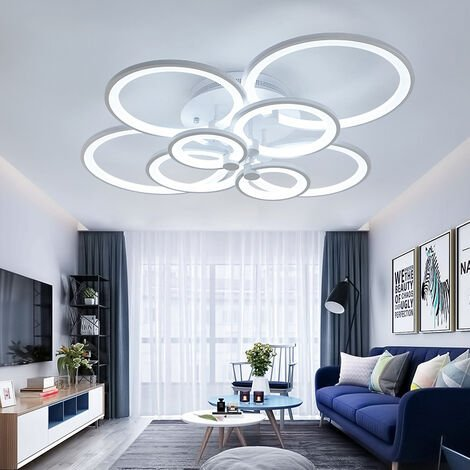 LED Light Ceiling Lights Cool White Chandelier Lamp, 8 Head
