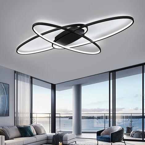 90CM Oval LED Chandelier Ceiling Light , Cool White