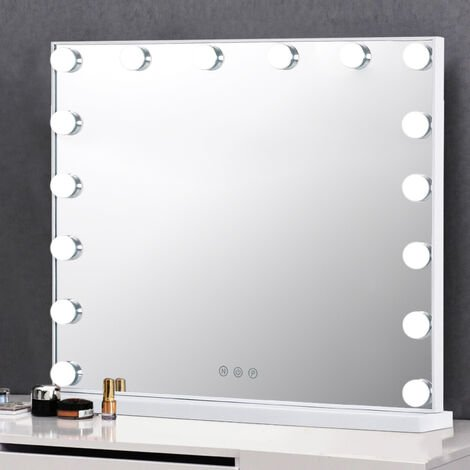 Large Hollywood Makeup Dressing Table Mirror With LED Dimmable Lights