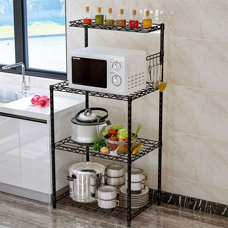 3 Tier Microwave Oven Rack Shelf Organiser Holder Kitchen Tool Storage Stand