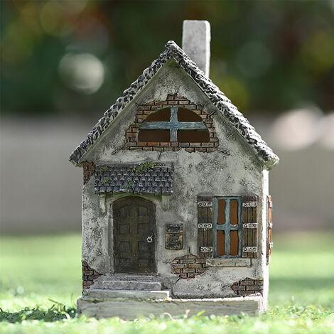 Garden House Statue Resin Outdoor Ornament, A