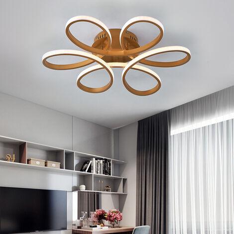 Modern Petal LED Chandelier Ceiling Light, Gold 58CM Cool White