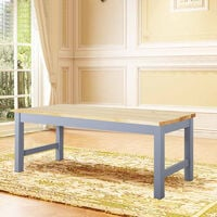 Solid Pine Retro Wooden Benches 2-3 Seater Corner Kitchen Dining Bench Stool