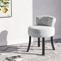 Velvet Dressing Table Stool Makeup Seat Low Back Vanity Chair