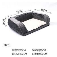 Soft Dog Pet Warm Sofa Bed Cushion Mattress Grey 70x50x25cm