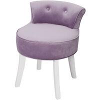 Dressing Table Stool Velvet Bedroom Chair Makeup Vanity Stool Padded Seat Purple