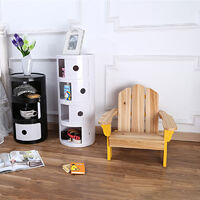 4 Tiers Drawers Bathroom Living Room Storage Round Shape Cabinet Stroags Bedside