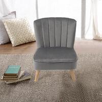 Kids Armchair Shell Back Velvet Upholstered Sofa Chair Children Bedroom Playroom