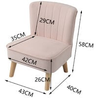 Pink Velvet Accent Dining Chair Shell Scallop Seat Kids Children Armchair Bedroom