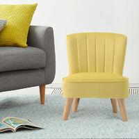 Children Kids Armchair Shell Back Velvet Upholstered Sofa Chair Yellow