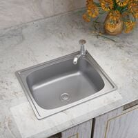 Modern Single Bowl Catering Stainless Steel Kitchen Sink Drainer Waste Kits
