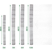 Fence Panels Galvanised Iron Wire Net Animal Cage Protective Mesh, Grid 2.5CM 90x500CM