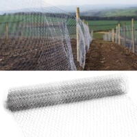 Fence Panels Galvanised Iron Wire Net Animal Cage Protective Mesh, Grid 5CM 0.6x25M